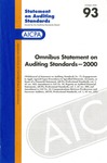Omnibus statement on auditing standards -- 2000; Statement on auditing standards, 093 by American Institute of Certified Public Accountants. Auditing Standards Executive Committee
