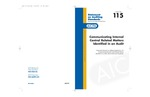 Communicating internal control related matters identified in an audit; Statement on auditing standards, 115