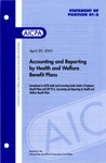 Accounting and reporting by health and welfare benefit plans : amendment to AICPA audit and accounting guide, Audits of employee benefit plans, and SOP 92-6, Accounting and reporting by health and welfare benefit plans; Statement of position 01-2;