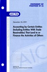 Accounting by certain entities (including entities with trade receivables) that lend to or finance the activities of others