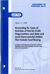 Accounting for costs of activities of not-for-profit organizations and state and local governmental entities that include fund raising: amendment to AICPA audit and accounting guides Health care organizations, Not-for-profit organizations, and Audits of state and local governmental units; Amendment to AICPA audit and accounting guides Health care organizations, Not-for-profit organizations, and Audits of state and local governmental units; Costs of activities of not-for-profit organizations and state and local governmental entities that include fund raising : amendment to AICPA audit and accounting guides Health care organization, Not-for-profit organizations, and Audits of state and local governmental units