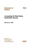 Accounting for real estate syndication income