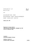 Accounting for research and development and similar costs: responses to issues raised in FASB Discussion Memorandum, December 28, 1974 (FASB file reference 1007), February 28, 1974