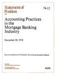 Accounting practices in the mortgage banking industry, December 30, 1974