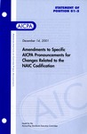 Amendments to specific AICPA pronouncements for changes related to the NAIC codification