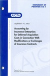 Accounting by insurance enterprises for deferred acquisition costs in connection with modifications or exchanges of insurance contracts