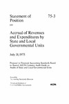 Accrual of revenues and expenditures by state and local governmental units: proposal to Financial Accounting Standards Board to amend AICPA Industry audit guide on audits of state and local governmental units