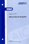 Software revenue recognition
