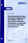 Performing agreed-upon procedures engagements that address internal control over derivative transactions by the New York State insurance law; Statement of position 01-3;