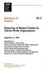 Reporting of related entities by not-for-profit organizations: amendment to AICPA industry audit guides, Audits of voluntary health and welfare organizations and Audits of colleges and universities, AICPA audit and accounting guide, Audits of certain nonprofit organizations, and SOP 78-10, Accounting principles and reporting practices for certain nonprofit organizations