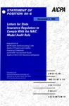 Letters for state insurance regulators to comply with the NAIC Model Audit Rule