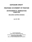 Comment letters to Exposure draft, Proposed statement of position : Environmental remediation liabilities (including auditing guidance);