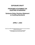 Proposed statement on auditing standards : Sarbanes-Oxley omnibus statement on auditing standards;Sarbanes-Oxley omnibus statement on auditing standards by American Institute of Certified Public Accountants. Auditing Standards Board
