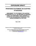 Proposed statement on auditing standards: Amendment of statement on auditing standards no. 69, The Meaning of Present Fairly in Conformity with Generally Accepted Accounting Principles, for Nongovernmental Entities;Amendment of statement on auditing standards no. 69, The Meaning of Present Fairly in Conformity with Generally Accepted Accounting Principles, for Nongovernmental Entities; Exposure draft (American Institute of Certified Public Accountants), 2005, May 9 by American Institute of Certified Public Accountants. Auditing Standards Board