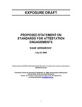 Proposed statement on standards of attestation engagements : SSAE hierarchy;SSAE hierarchy; Exposure draft (American Institute of Certified Public Accountants), 2006, July 25 by American Institute of Certified Public Accountants. Auditing Standards Board