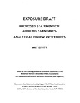Proposed statement on auditing standards : analytical review procedures ;Analytical review procedures; Exposure draft (American Institute of Certified Public Accountants), 1978, May 15