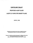 Proposed audit guide : audits of employee benefit plans ;Audits of employee benefit plans