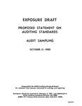 Proposed statement on auditing standards : audit sampling;Audit sampling; Exposure draft (American Institute of Certified Public Accountants), 1980, Oct. 31
