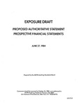 Proposed authoritative statement : Prospective financial statements ;Prospective financial statements