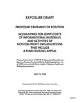 Proposed statement of position : accounting for joint costs of informational materials and activities of not-for-profit organizations that include a fund-raising appeal;Accounting for joint costs of informational materials and activities of not-for-profit organizations that include a fund-raising appeal