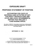Proposed statement of position : accounting for costs of materials and activities of not-for-profit organizations and state and local governmental entities that include a fund-raising appeal :(a revision of SOP 87-2, Accounting for joint costs of informational materials and activities of not-for-profit organizations that include a fund-raising appeal);Accounting for costs of materials and activities of not-for-profit organizations and state and local governmental entities that include a fund-raising appeal :(a revision of SOP 87-2, Accounting for joint costs of informational materials and activities of not-for-profit organizations that include a fund-raising appeal)