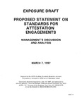 Proposed statement on standards for attestation engagements : management's discussion and analysis ;Management's discussion and analysis; Exposure draft (American Institute of Certified Public Accountants), 1997, Mar. 7