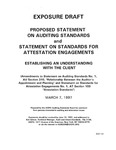 Proposed statement on auditing standards and statement on standards for attestation engagements : establishing an understanding with the client : (amendments to Statement on auditing standards no. 1, AU section 310,