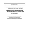 Proposed statement on standards for accounting and review services: Omnibus statement on standards for accounting and review services - 2008; Exposure draft (American Institute of Certified Public Accountants), 2007, October 9 by American Institute of Certified Public Accountants. Accounting and Review Services Committee