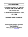 Proposed statement on auditing standards no. 103 (redrafted): Audit documentation; Exposure draft (American Institute of Certified Public Accountants), 2008, April 30 by American Institute of Certified Public Accountants. Auditing Standards Board