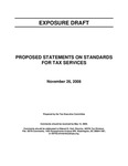 Proposed statements on standards for tax services; Exposure draft (American Institute of Certified Public Accountants), 2008, November 26 by American Institute of Certified Public Accountants. Tax Executive Committee