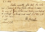 Promissory Note, 7 February 1831 by G. C. Treadwell and Samuel Julian