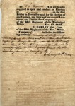 Military election notice, 17 November 1837 by E. Earley and John G. Jones