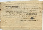 Subpoena, Marshall County, M.S, 2 December 1837 by Timmons Louis Treadwell, Martin Tally, A. Potts, and G. W. Smith