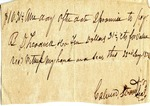 Promissory Note, 22 January 1838 by Calvin Stroud