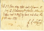 Promissory Note, 8 November 1838 by C. Curtis