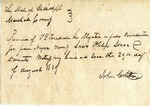 Receipt for sale of slaves, 29 August 1839 by John Carruth