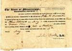 Subpoena, Marshall County, MS, 8 May 1839 by John Rook and William Kerr