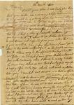Dan to Reuben Treadwell, 14 March 1840 by Dan Unknown