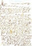 A.B. Treadwell to W.L. Treadwell, 28 August 1850 by Arthur Barlow Treadwell