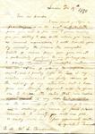 Elizabeth Treadwell to Lowndes Treadwell, 15 December 1850 by Elizabeth E. Treadwell