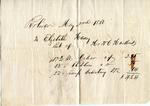 Receipt, 3 May 1850 by W. Hankins