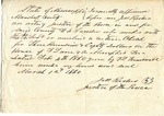 Affidavit, Marshall County, MS, 1 March 1860 by John M. Redus and Timmons Louis Treadwell