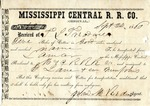 Cotton receipt, 24 September 1860 by Mississippi Central Railroad Company (1897-1967) and F. Lane and Company