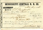 Cotton receipt, 10 November 1860 by Mississippi Central Railroad Company (1897-1967) and F. Lane and Company