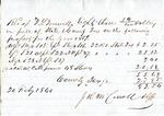 Receipt, Property tax, 20 February 1860 by John R. M. Carroll
