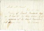 Receipt, 1 February 1860 by B. F. Eddins