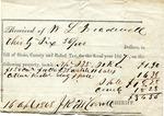 Relief tax receipt, 16 April 1868 by John R. M. Carroll