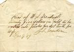 Receipt, 9 December 1869 by J. L. Newborn
