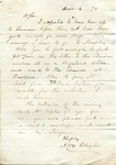 A. Peck to Ransom E. Aldrich, 25 November 1872