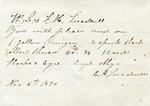J. Videto to Ransom E. Aldrich, 1 December 1872 by J. Videto